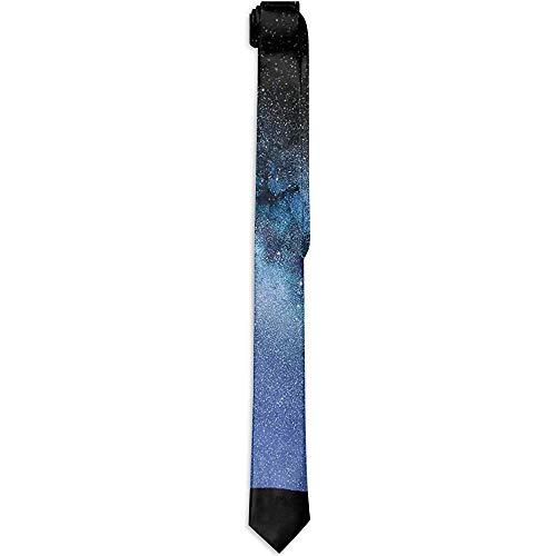Hals Krawatte Teleskop Tal unter Sternenhimmel Himmel Milchstraße Atmosphäre Galaxie Astronomie, Krawatten für Männer