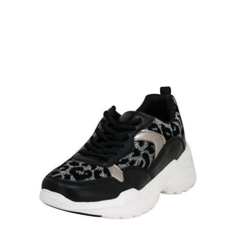Fitters Footwear That Fits Donne Scarpe da Tennis Madeleine Finta Pelle (45 EU, Peltro)