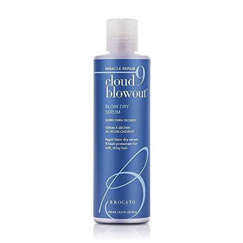 Brocato Cloud 9 Coup sec Sérum: Chaleur Protectant Blowout Crème Revitalisant Lissage Shine - Blow Out Baume pour les femmes avec un style thermique e