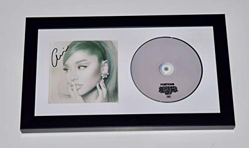 Ariana Grande Signed Autographed Positions Framed CD Booklet Display COA
