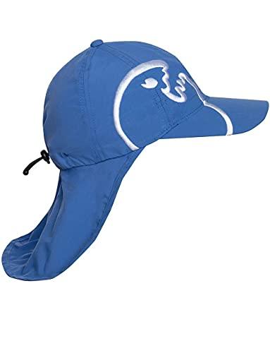 iQ UV 200 Kids Cap con protección de la nuca, gorra protectora de los rayus UV- 50-55 cm