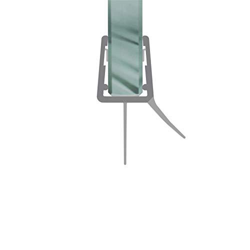 Duschdichtung Schwallschutz Streifdichtung Ersatzdichtung Wasserabweisprofil 1 m für eine Glasstärke von 4-8 mm