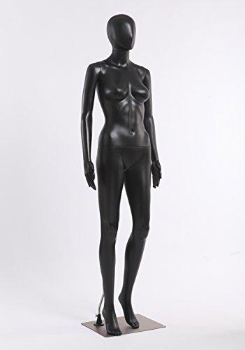 Mannequin eurohandisplay femelles fC - 11Black noir mat sans visage, bras et tête pivotant à 360° mannequin mannequin egghead femelle