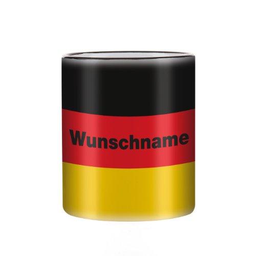 Herz & Heim® Tasse mit Wunschnamen und Flagge - Deutschland -