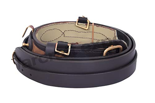 Great Features Of Army Sam Browne Belt With Shoulder Strap Brown Leather Brass Uniform Accessories