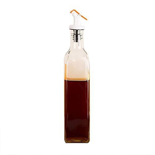 NOSSON Dispensador de Olla de Aceite, dispensador de Aceite de Oliva Botella de Aceite de Vidrio 550ml Botella de Aceite de Cocina Dispensador de Aceite de Cocina