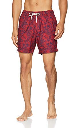 Fat Face Floral Poly Print Pantaloncini, Rosso (Pepper Red), S Uomo