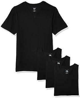 Ted Baker mens V-neck Stretch Cotton Tshirts 3 Pack Base Layer Top Black/Black/Black Small US