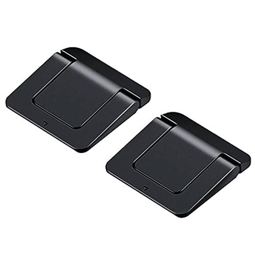 QiKun-Home 2 unids ordenador portátil aumentó la almohadilla del radiador soporte silicona antideslizante almohadilla de goma saludable ángulo visual negro