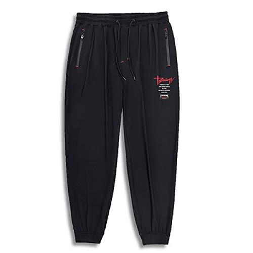 Pantalones de chándal para Hombre Pantalones de Entrenamiento de Gimnasio Pantalones para Correr Pantalones de chándal Casuales con Bolsillos con Cremallera con cordón 4XL