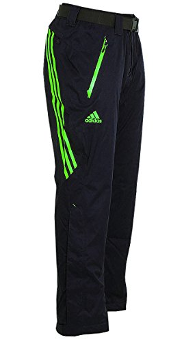 adidas Herren Coach Pant Skihose Snowboardhose Wintersporthose (dunkelgrau-grün, 46 (S) D4)