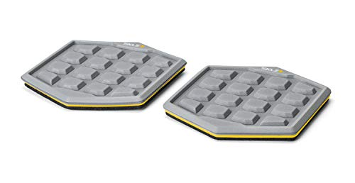 SKLZ Slidez Dual-Sided Exercise Glider Discs for Core Stability Exercises for Hands & Feet, Court Use