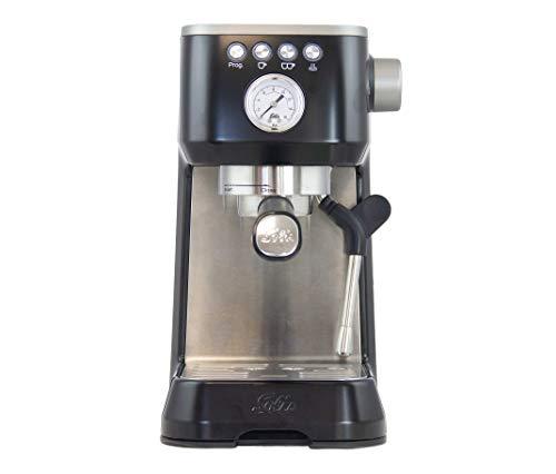 Solis Barista Perfetta Plus 1170 Kaffeemaschine - Espressomaschine mit Dampf- und Heißwasserfunktion - Siebträger Kaffeemaschine - 15 bar - 1.7L Wassertank - Schwarz