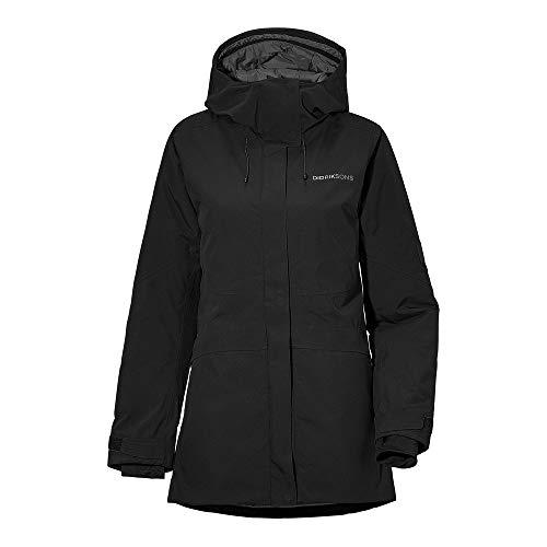 Didriksons W Alta Jacket Schwarz, Damen Isolationsjacke, Größe 46 - Farbe Black