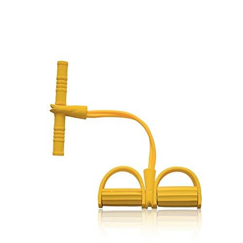 Widerstand elastische Seil Sport Übung Rudergerät Bauchwiderstand Band Home Gym Sporttraining Fitnessgeräte Gummiband - Gelb