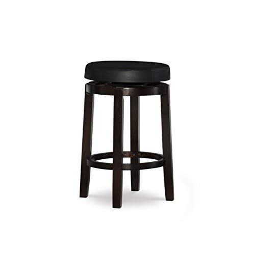 Linon Maya Swivel 24u0022 Counter Stool - Black