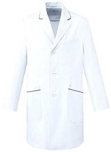 (ミズノ)MIZUNO メンズパイピング入りドクターコート【制菌/透防止/制電】医療白衣MZ-0108 MZ0108 C-1 ホワイト LL