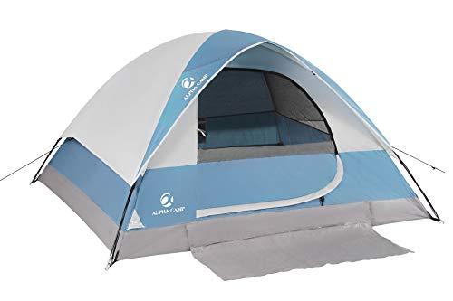 ALPHA CAMP 4 Person Camping Tent - 7' x 9' Blue