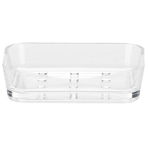 kela Seifenschale Kristall aus Kunststoff in transparent, Plastik, 12 x 9 x 3 cm