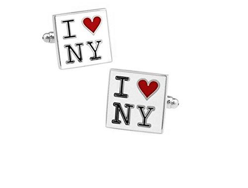 Bouton de manchette i love new york