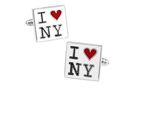 Bouton de manchette i love new york