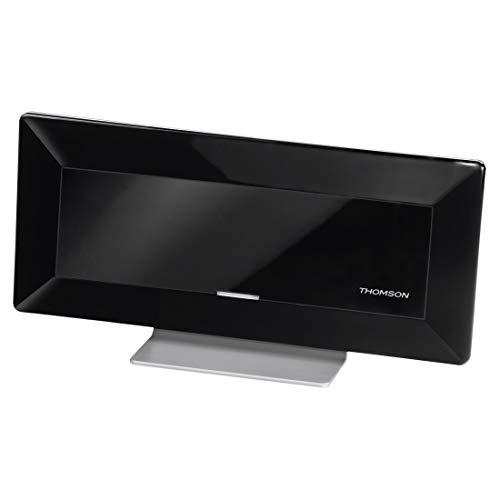 """Thomson Aktive Flachantenne für digitalen TV-/Radio-Empfang, """"ANT1528BK"""" (DVB-T/DVB-T2, DAB/DAB+, HD/3D, mit Verstärker, Rauschfilter, flach) Innenantenne/Zimmerantenne"""