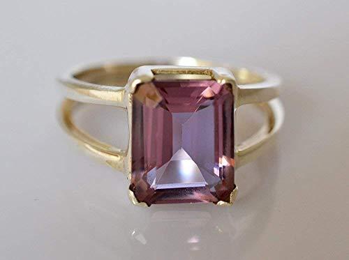 100% Farbwechsel Labor Erstellt Alexandrit 925 Sterling Silber Ring 14 bis 22 DE