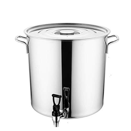 Barril de Acero Inoxidable, con el Grifo, cocinar Stock Pot, de Alta Capacidad, de Acero Inoxidable Engrosada (60L)