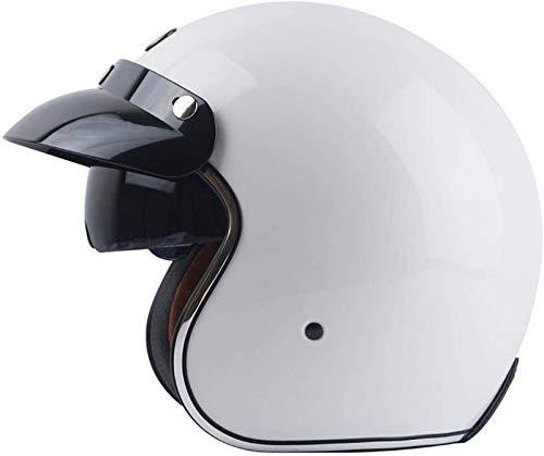 EBAYIN Cascos Half-Helmet Cascos Abiertos Casco de Motocicleta Retro Harley Medio Casco Cruiser Chopper Scooter Piloto Jet Casco 3/4 Adulto Four Seasons Safety Collision Cap,A-XL(61~62cm)
