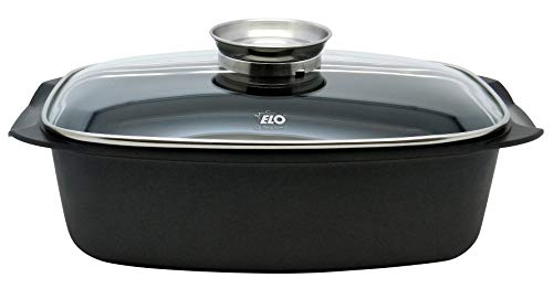 ELO 84133 Alucast Bräter, Aluminium, 6 liters, schwarz
