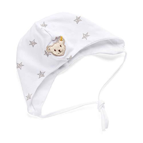 Steiff Unisex Baby Mütze, Weiß (BRIGHT WHITE 1000), 43