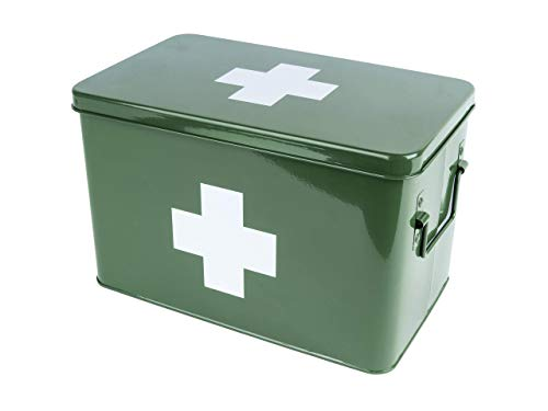 PT Medicine Medizin, Aufbewahrungsbox, Box, Medikanmentenbox, Metall, grün, Large