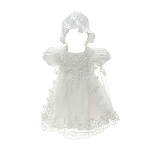 Zhhlinyuan Bébé Filles Robe de Cérémonie Soirée Fleur Tutu Jupe Robe de Fête d'anniversaire Princesse Robes - Enfants Robe de Baptême Robes Formelles 0-24 Mois