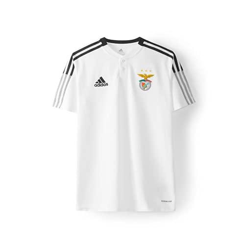 adidas Benfica White Polo 2021 2022 Kids, Boys, Blanco, 11 Años