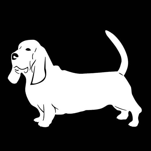 Calcomanías para Laptop 14CM * 10.1CM Hound Dogs Frigorífico Etiqueta de la Pared Bolsa de Viaje Decorativa Libros para niños Calcomanías de Bicicleta (3 PCS