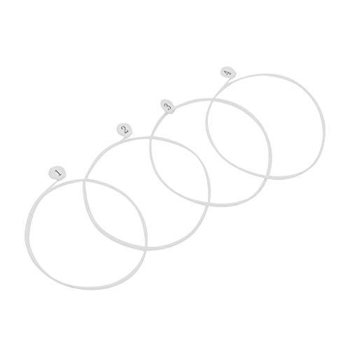 Javpoo IRIN Ukulele Strings U630 White Nylon Tuning Ukulele Strings Reemplazo