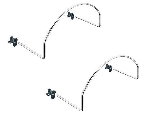 Gedotec Matratzenbügel Matratzenhalter für Kopf- oder Fußende | Stahl Chrom poliert glänzend | Bettbeschlag BxHxT 345 x 165 x 130 mm | 2 Stück - Matratzen-Bügelhalter für Betten - Lattenrost & Liegen