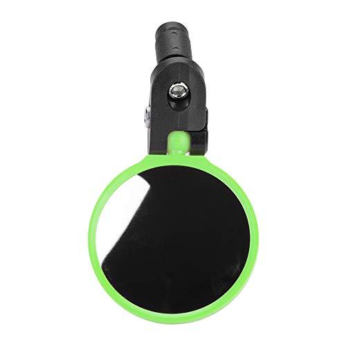 Kierownica rowerowa przegląd wsteczne lusterko obrotowe 180 do rowerów górskich wyścigowych (zielone) kierownica rowerowe lusterko wsteczne lusterko wsteczne akcesoria rowerowe lusterka rowerowe