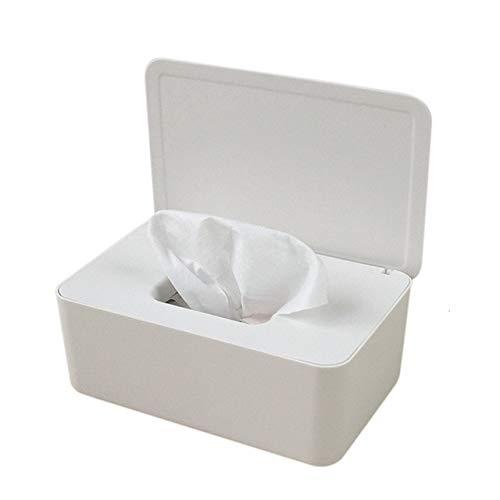 WZNB Wet zakdoek box schrijftafdichting babydoekjes papier opbergdoos stofdicht kunststof zakdoek box voor thuisgebruik 18.5 * 12 * 7cm wit