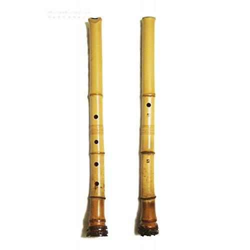 Shakuhachi Raíz End 5 Agujeros, 1,8 Pentatonic Shakuhachi Natural Estilo Boquilla - Zen Instrumento Tradicional