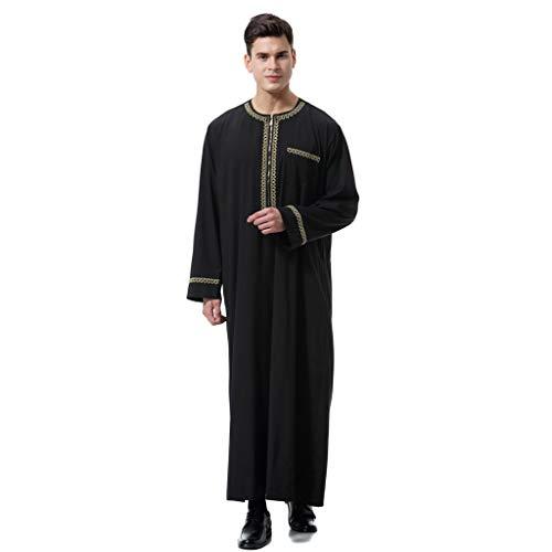 Preisvergleich Produktbild serliy Arabische Kostüme Robe stilvolle beiläufige Reißverschluss Oversize Langarm lose knöchellangen Stickerei Top Bluse pur