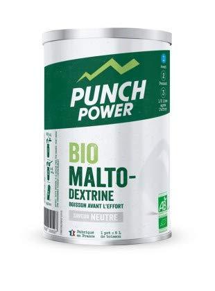 PUNCH POWER - BioMaltoDextrine - Neutre - Pot 500 g - Biomaltodextrine - Boisson avant l'effort - Recharge Glucidique - Antioxydant - Bio - Sans Gluten - Marque Française