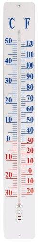 Esschert thermomètre sur plaque métal 90 cm
