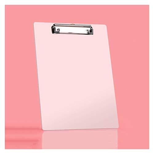 Carpetas para archivo Carpeta de papel A4 con clip de metal fuerte Portapapeles de plástico Tablero de escritura Splint para el restaurante de la escuela de oficina en casa (paquete de 10/20) Carpetas