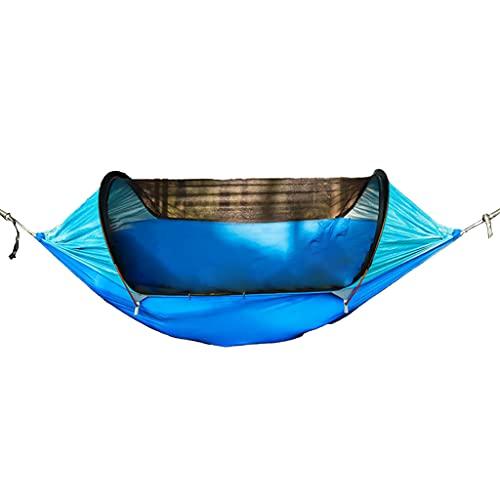Meipai Hamaca de Camping Red, Hamaca de paracaídas Duradera Doble e Individual, con Capacidad para 500 Libras