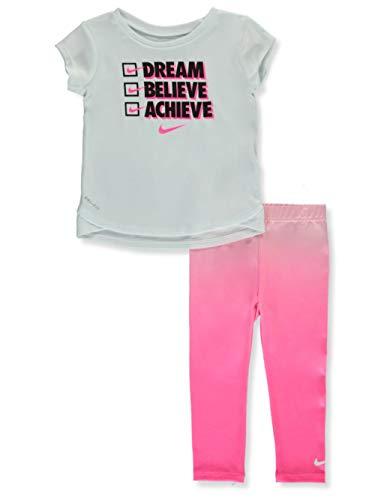 Nike Girls' 2-Piece Leggings Set Outfit - Hyper Pink, 24 Months