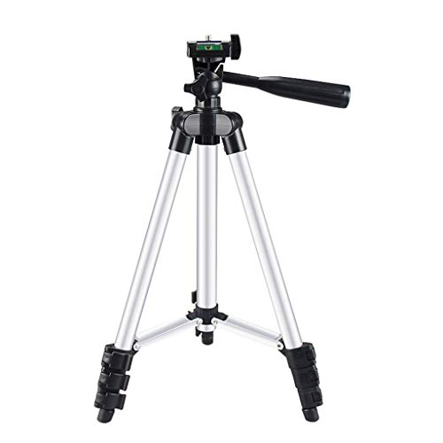"""Fewear Tripod for Cell Phone and Camera, 43.3"""" Lightweight Phone Tripod, Video Tripod with 360 Panorama, Aluminum Lightweight Tripod for iPhone/Cellphone, Camera, Carrying Bag (Silver)"""