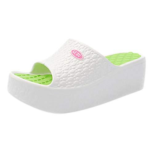 feftops Sandalias de Cuña para Mujer Zapatillas Suela Grues