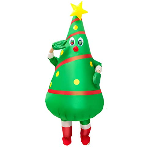Abaodam Inflatable Christmas Tree Costume Funny Party Cosplay Props for Adults