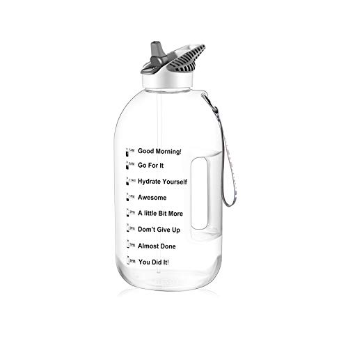GHONLZIN Botella Agua Deportiva 2.5L Water Bottle
